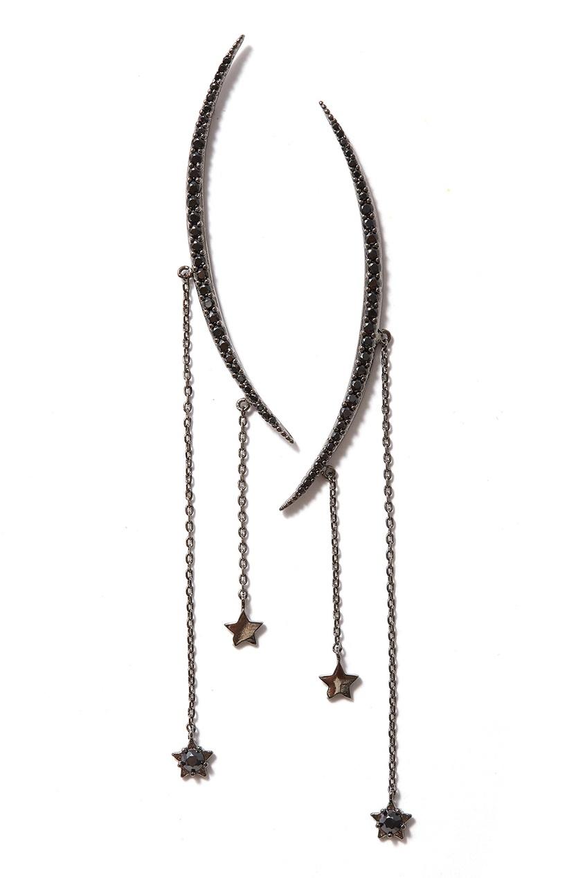 Herald Percy Серьги с подвесками-звездами серьги с подвесками эстет серебряные серьги с куб циркониями и пластиком est01с2510678 10z