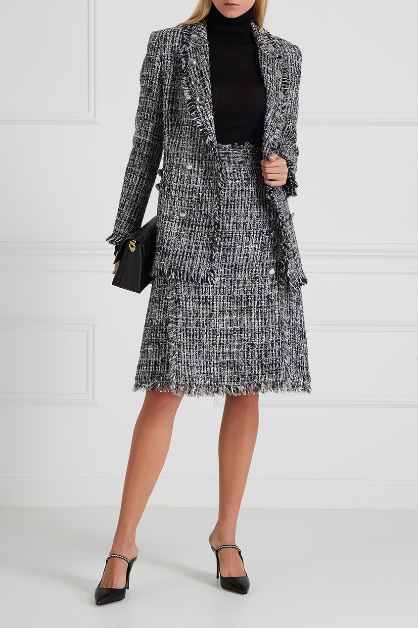 MSGM Фактурная юбка с бахромой msgm одежда