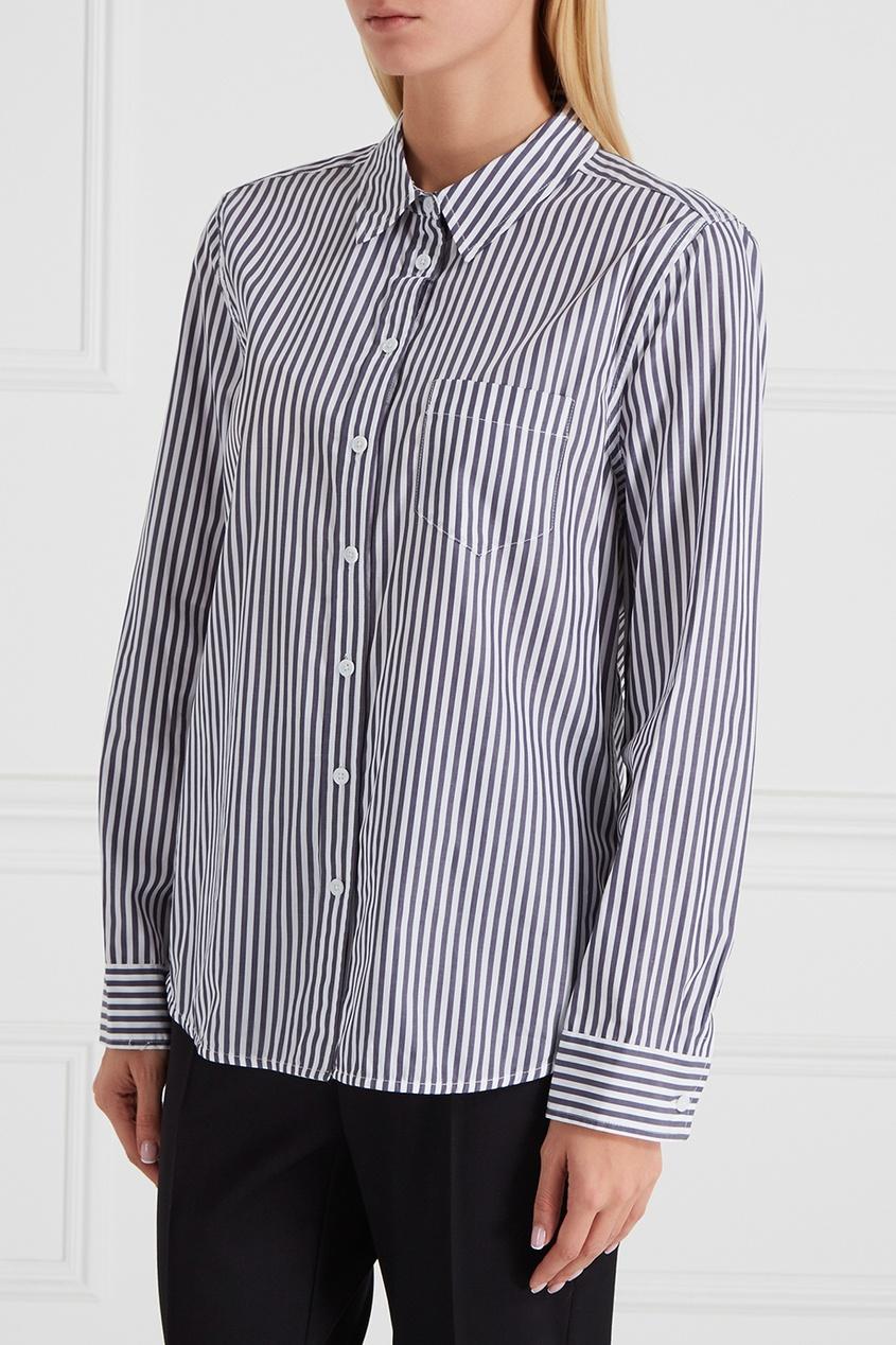 Полосатая рубашка с принтом