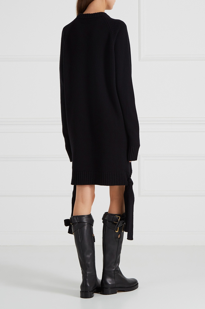 Платье-свитер с завязками