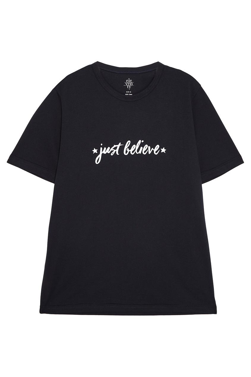 Eleventy Хлопковая футболка с надписью eleventy гольфы