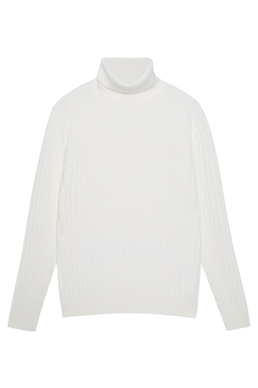Шерстяной свитер в рубчик