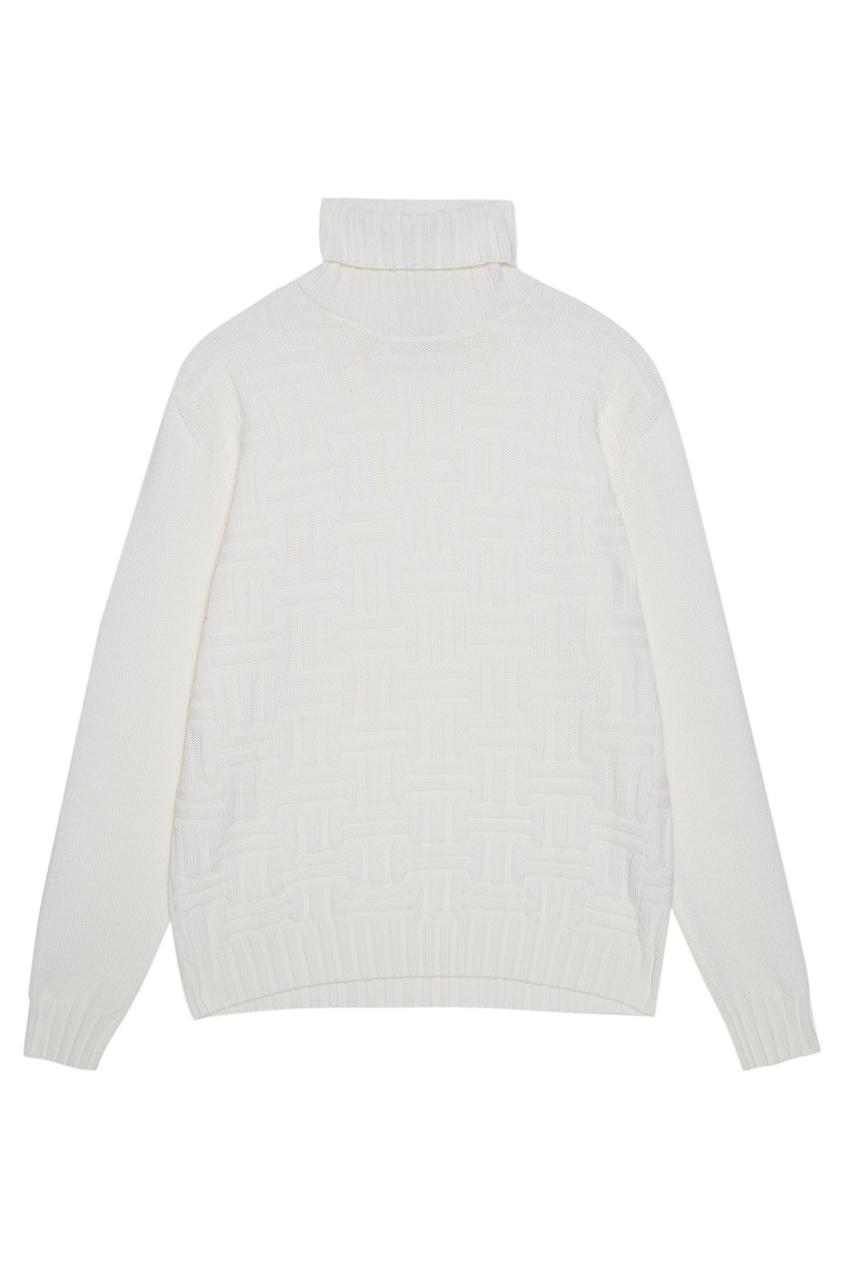 Шерстяной свитер с узором
