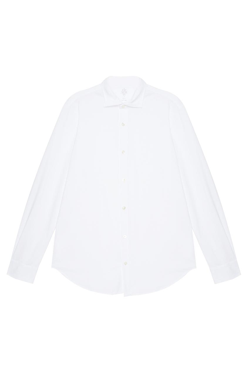 Eleventy Белая хлопковая рубашка осенние новый пиджак обрезанное корейской версии новый осенний износ тонкая белая рубашка леди рукава белая рубашка