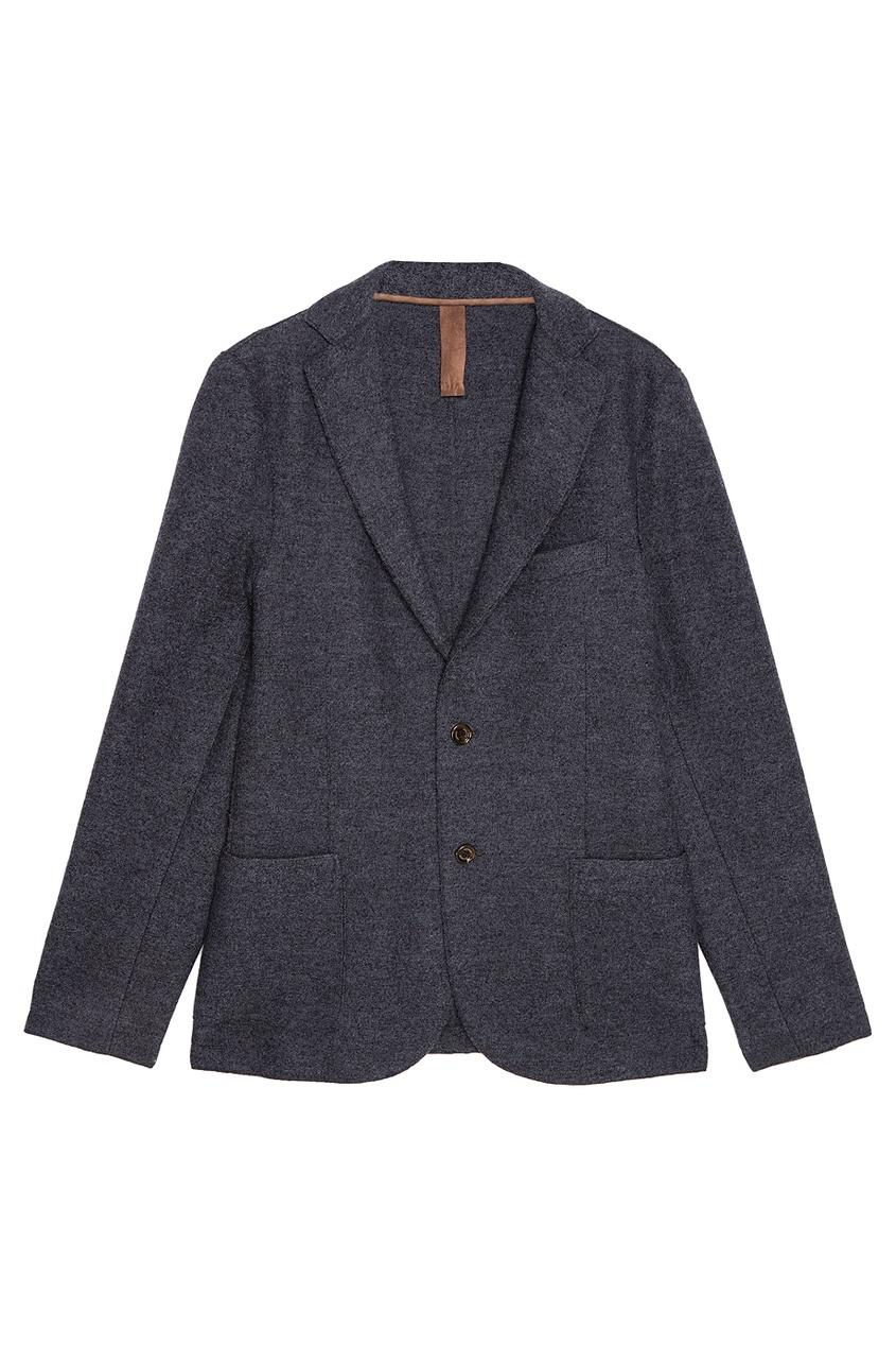 Шерстяной пиджак серый от Eleventy