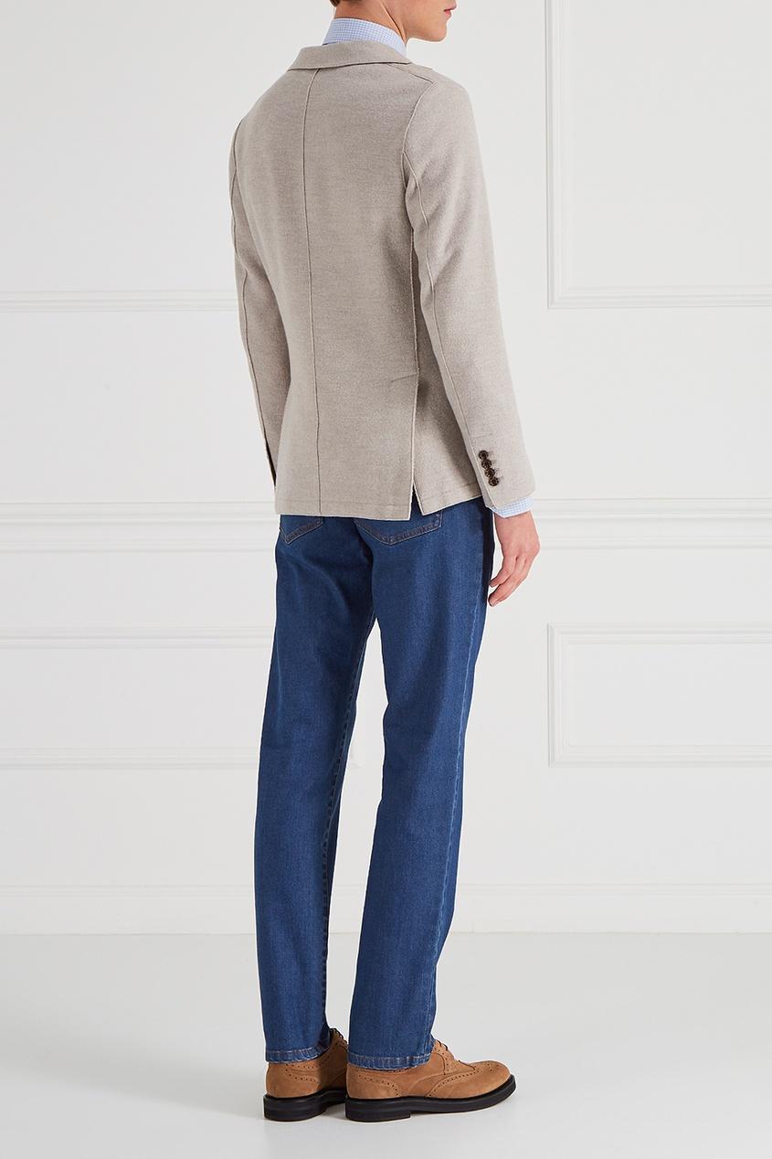 Светлый шерстяной пиджак от Eleventy