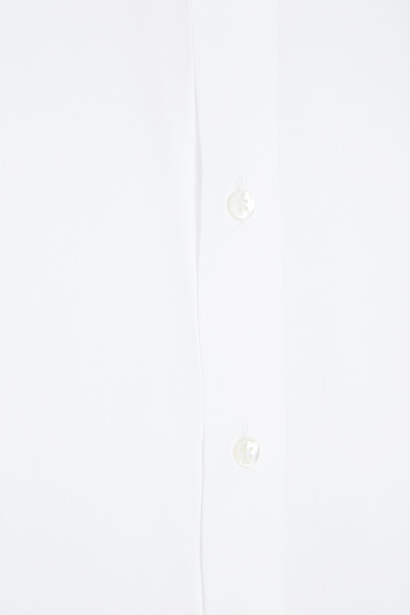 Canali Хлопковая рубашка белая осенние новый пиджак обрезанное корейской версии новый осенний износ тонкая белая рубашка леди рукава белая рубашка