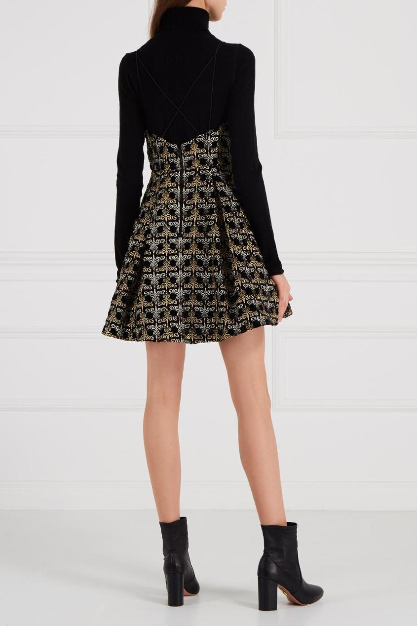 Alice + Olivia Платье с вышивкой люрексом платье alice olivia alice olivia al054ewyzd26