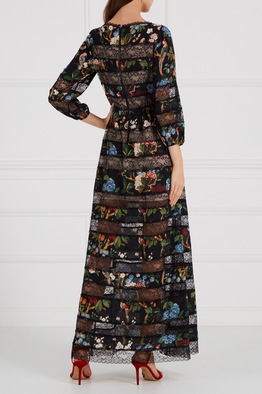 Alice + Olivia Платье из бархата и кружева цены онлайн