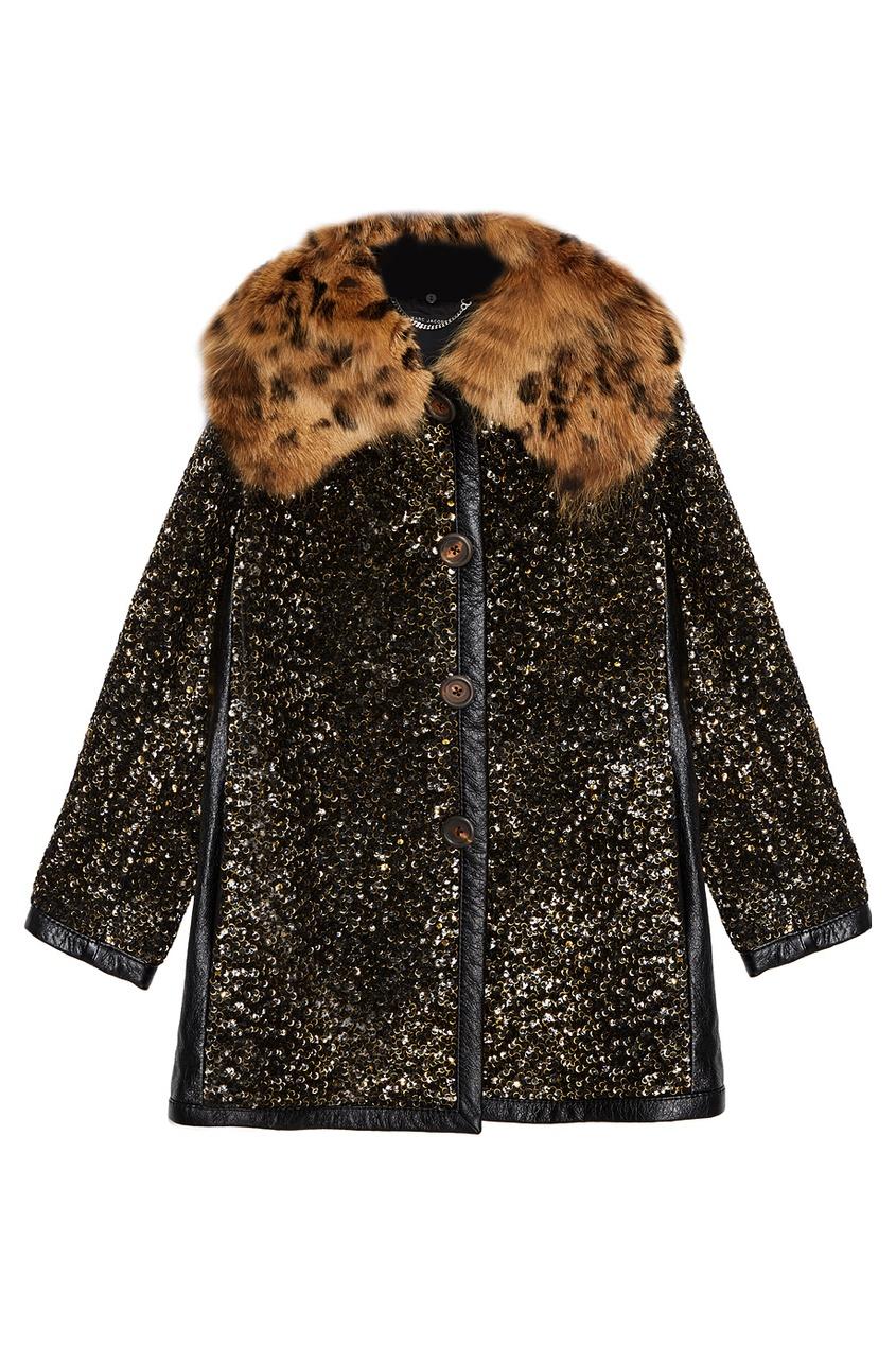 Marc Jacobs Шерстяное пальто с пайетками