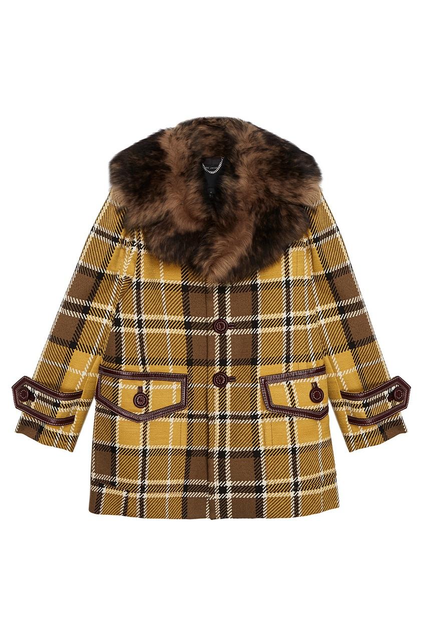 Marc Jacobs Пальто из шерсти с меховым воротником пальто marc o'polo 411137043 811