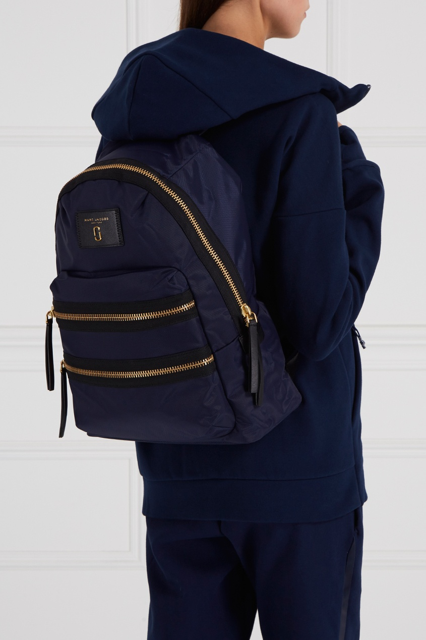 цена  Marc Jacobs Текстильный рюкзак синий  онлайн в 2017 году