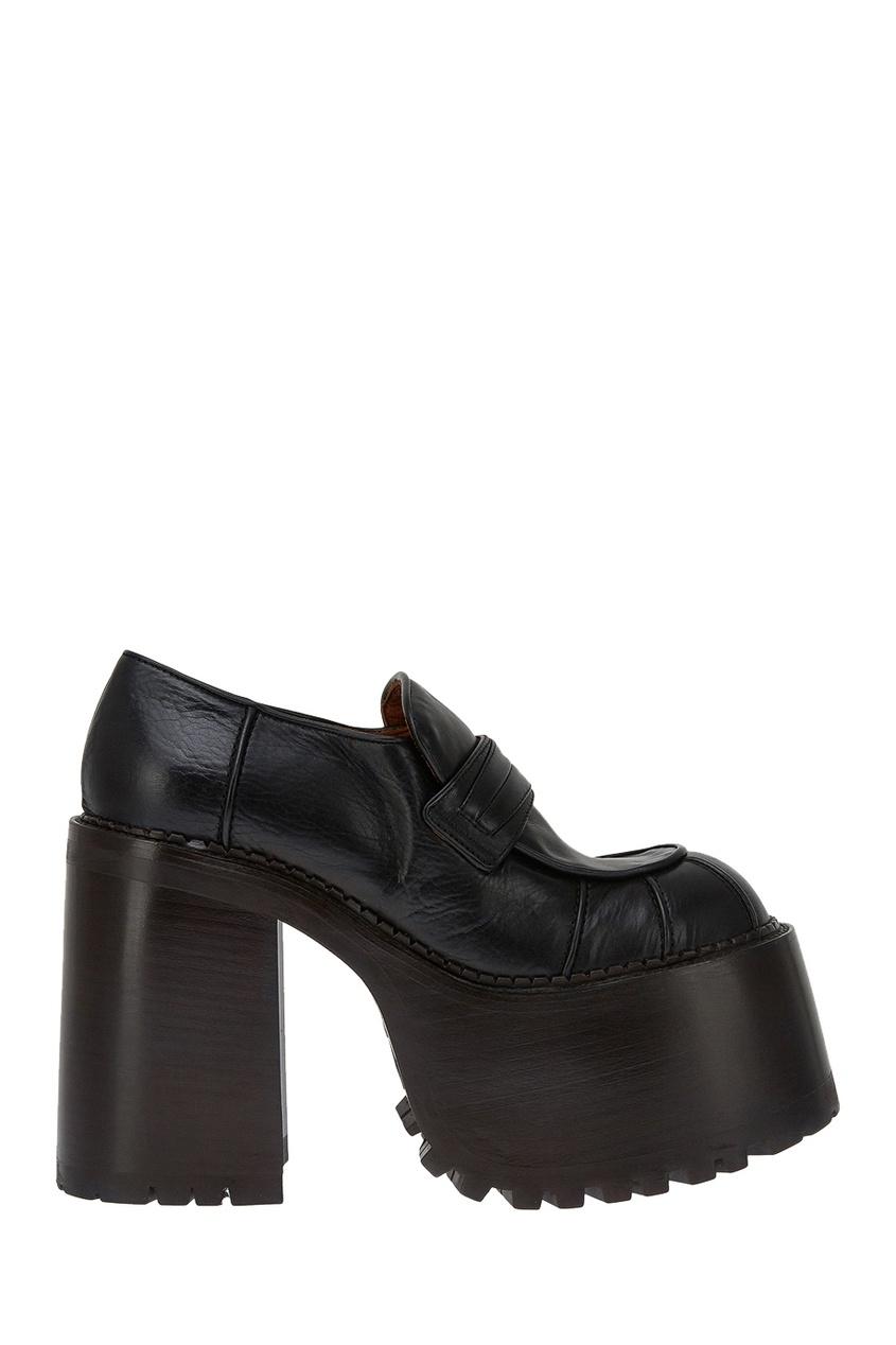 Marc Jacobs Черные ботинки на платформе обувь на высокой платформе 092