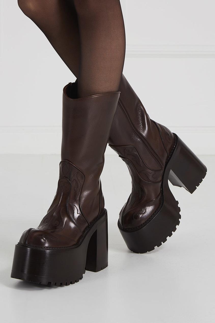 Marc Jacobs Кожаные сапоги на платформе кожаные сапоги