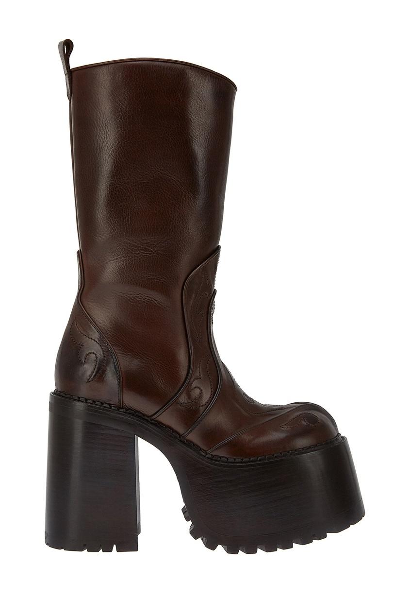 Marc Jacobs Кожаные сапоги на платформе сапоги кожаные на плоском каблуке 1137