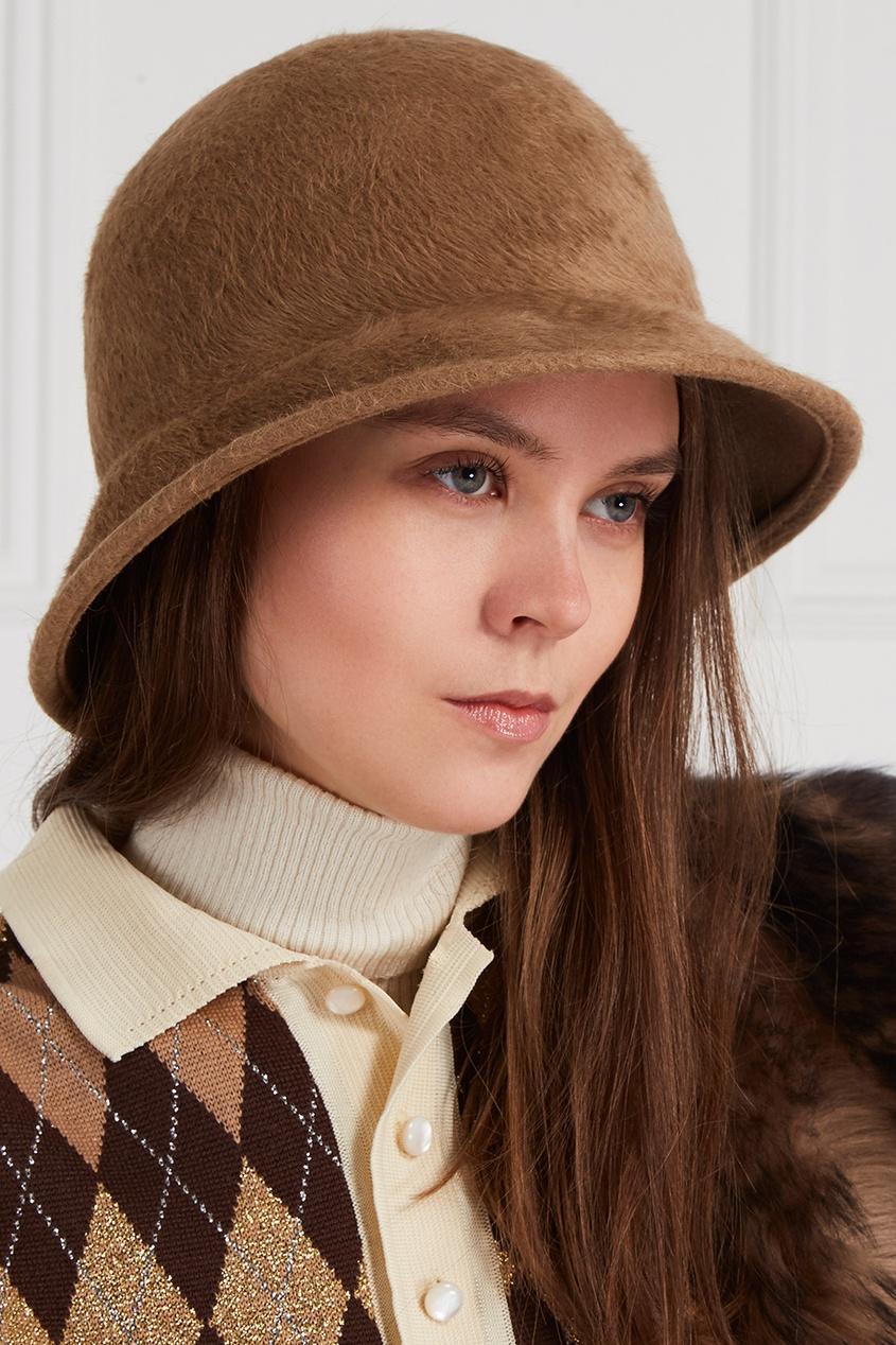 Фото #1: Шляпа из ворсового материала