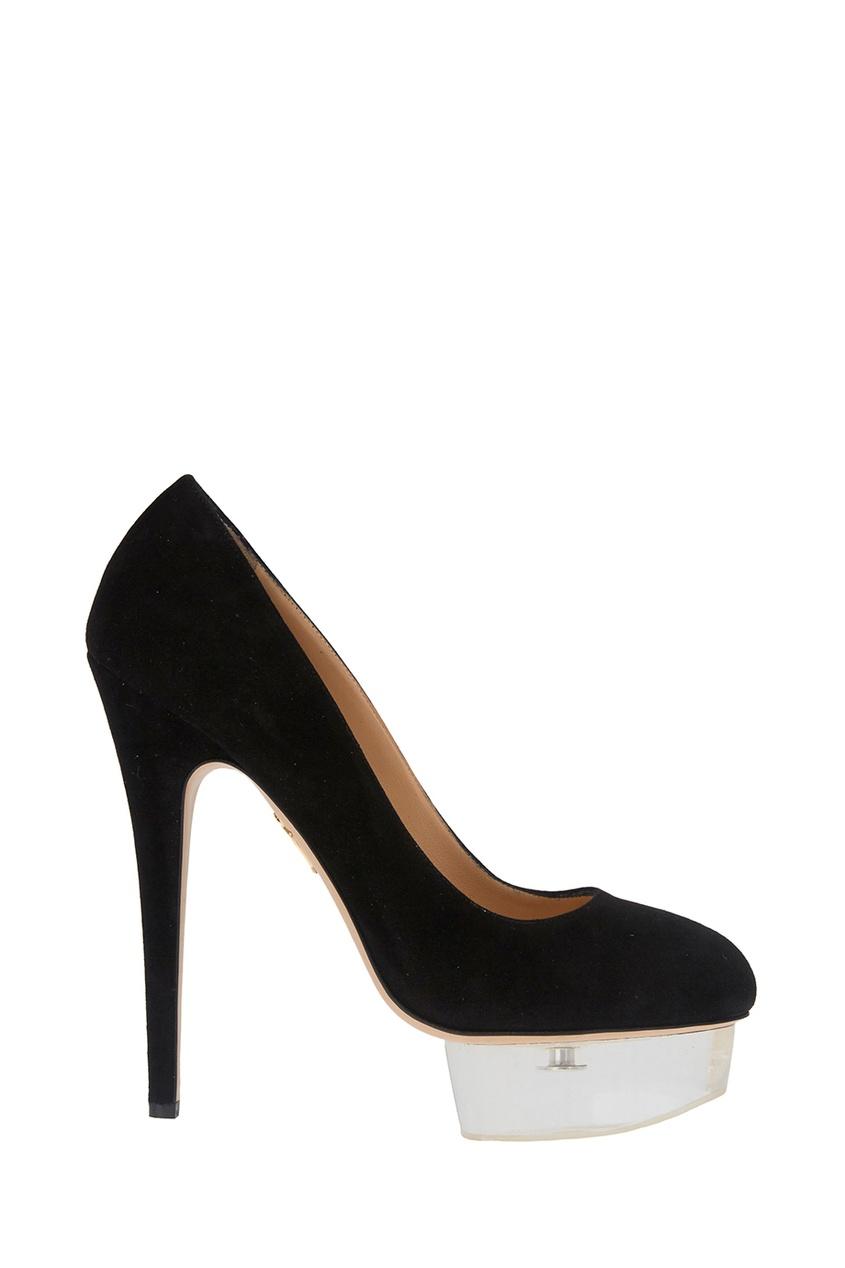 Черные туфли из замши Dolly