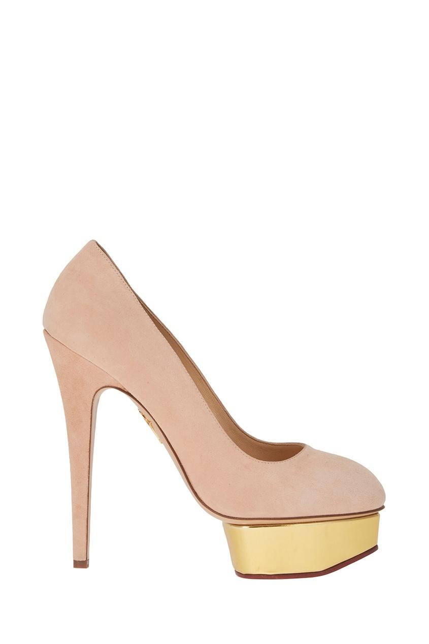 Розовые туфли из замши Dolly