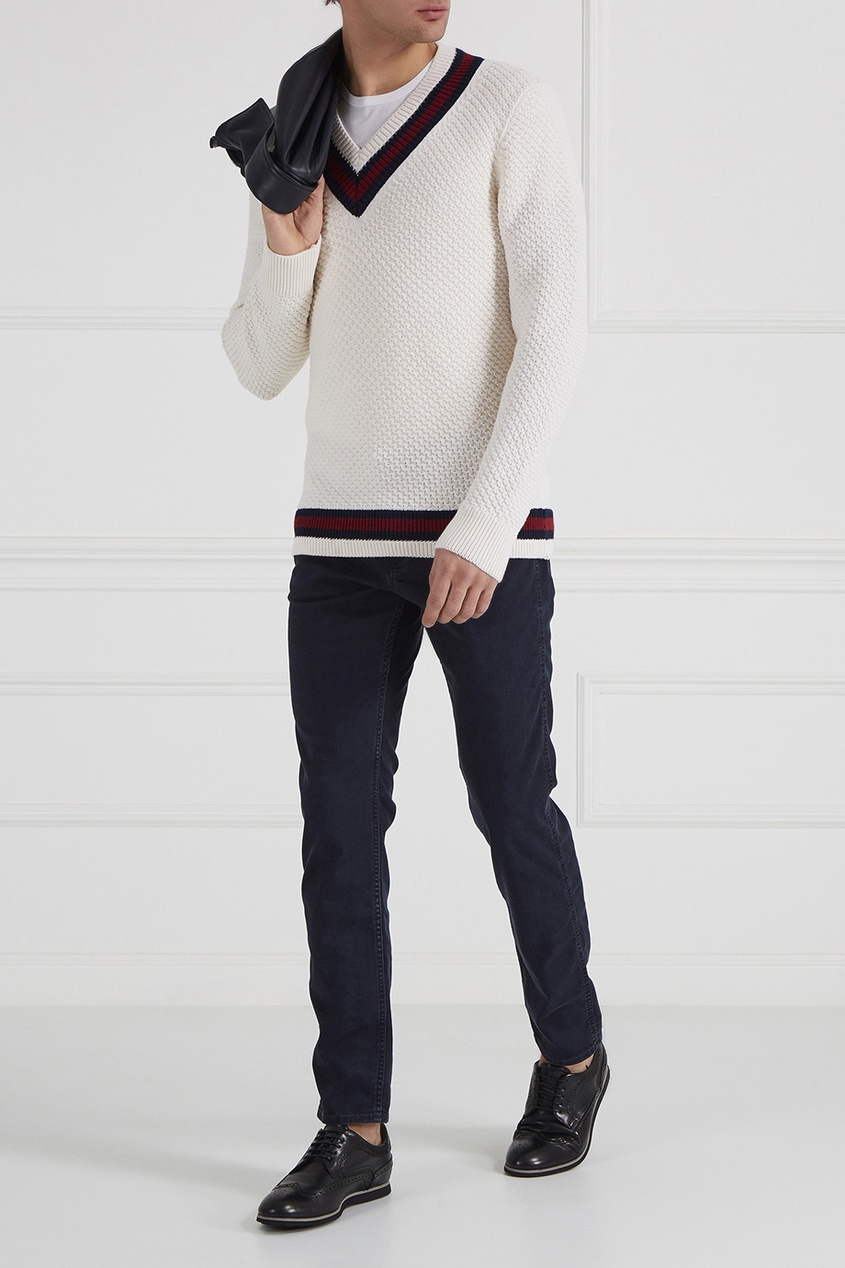 BOSS Пуловер с контрастной отделкой пуловер boss пуловер