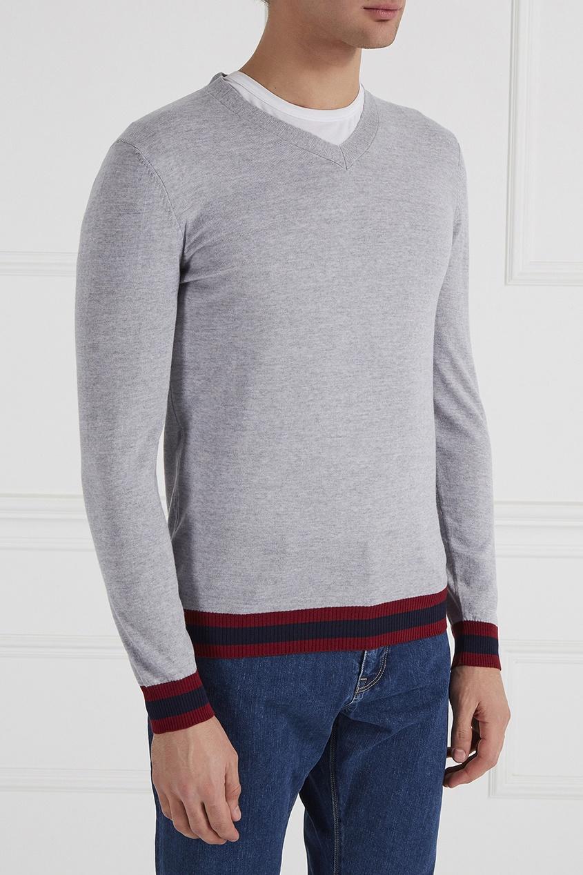 BOSS Пуловер с отделкой пуловер boss пуловер