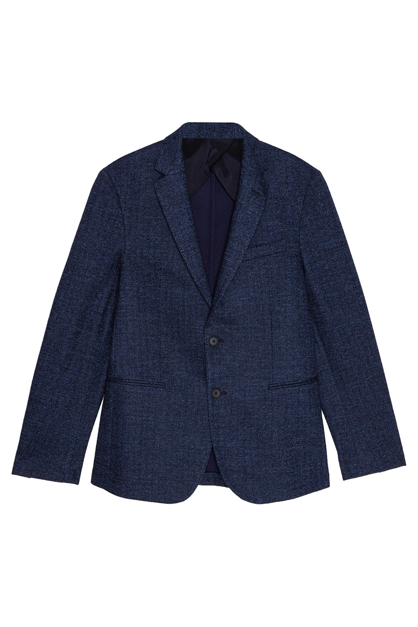 мужской пиджак boss, синий