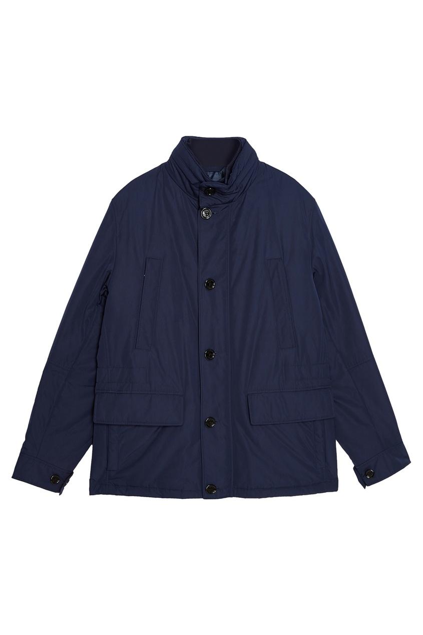 мужская куртка boss, синяя
