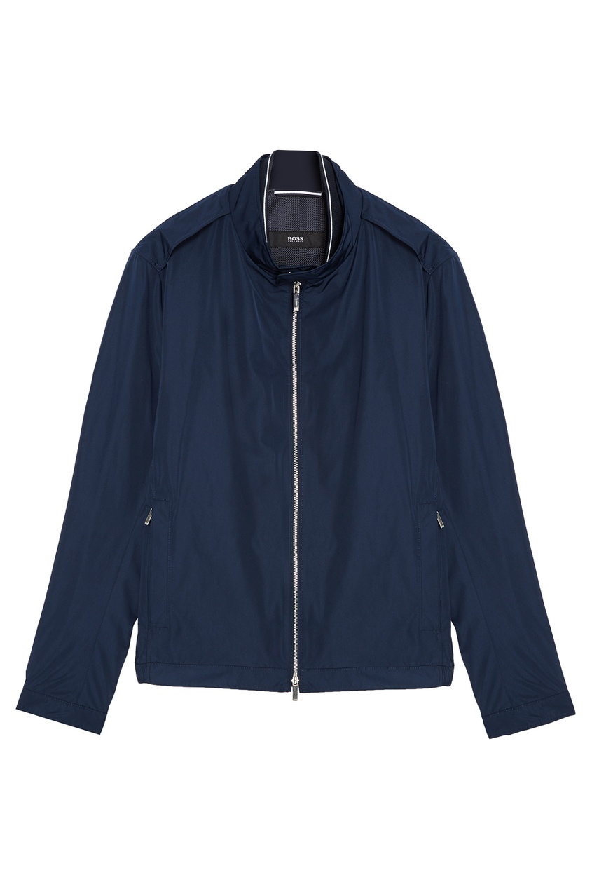 Купить Куртку на молнии синего цвета