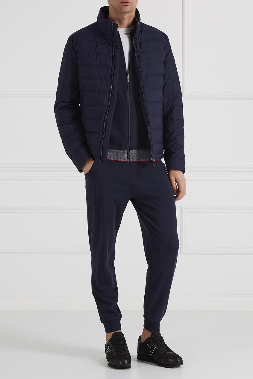 Спортивные брюки с контрастным поясом