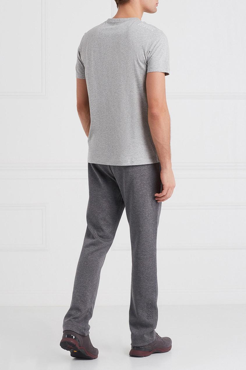 Меланжевые спортивные брюки