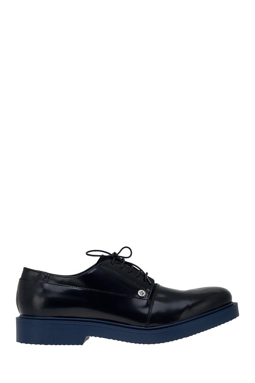 Купить со скидкой Кожаные ботинки с контрастной подошвой