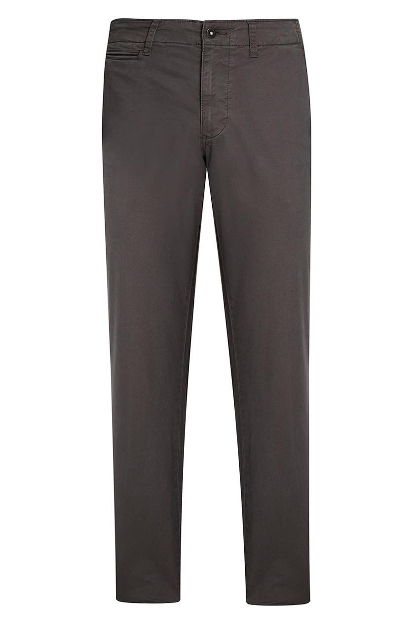 Хлопковые серые брюки Mana