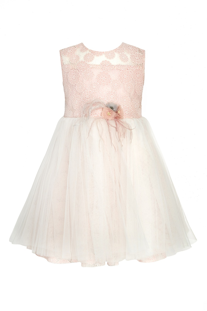Платье из кружева и сетки