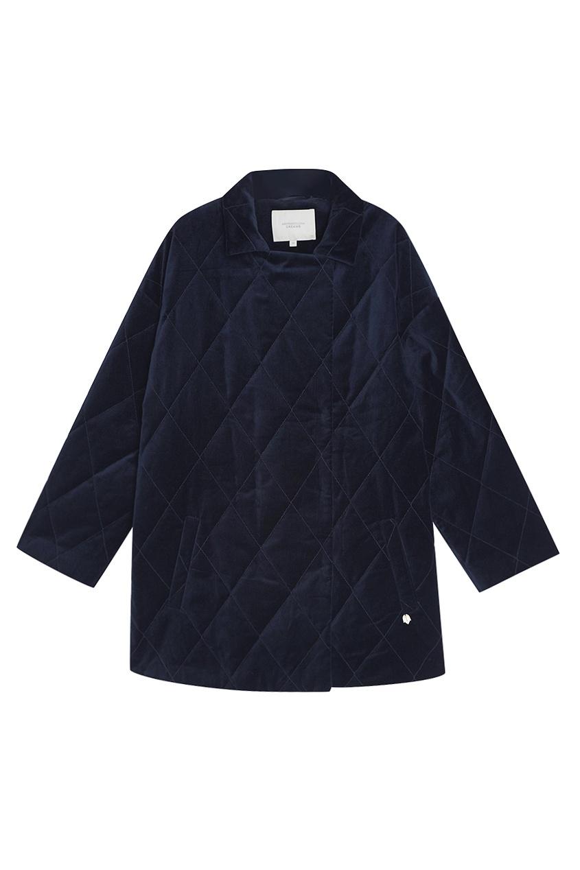 Синяя бархатная куртка