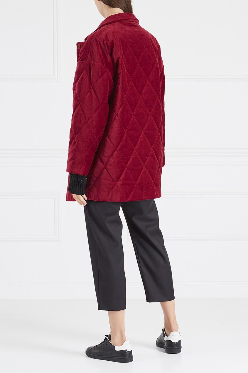 Красная бархатная куртка