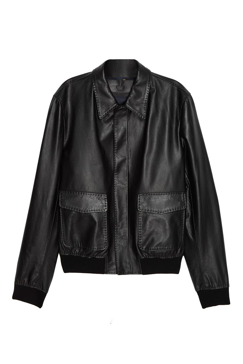 Dolce&Gabbana Кожаная куртка с карманами