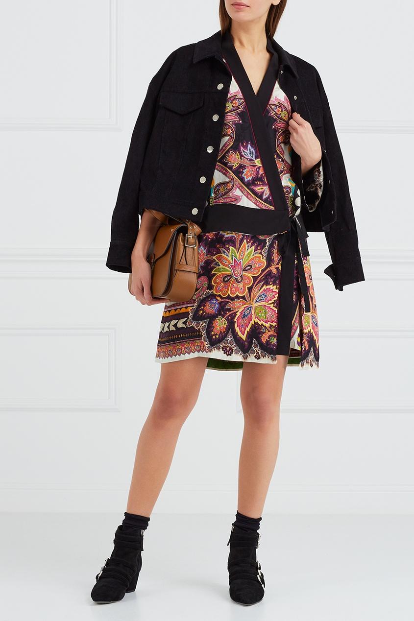 Etro Платье-халат с принтом