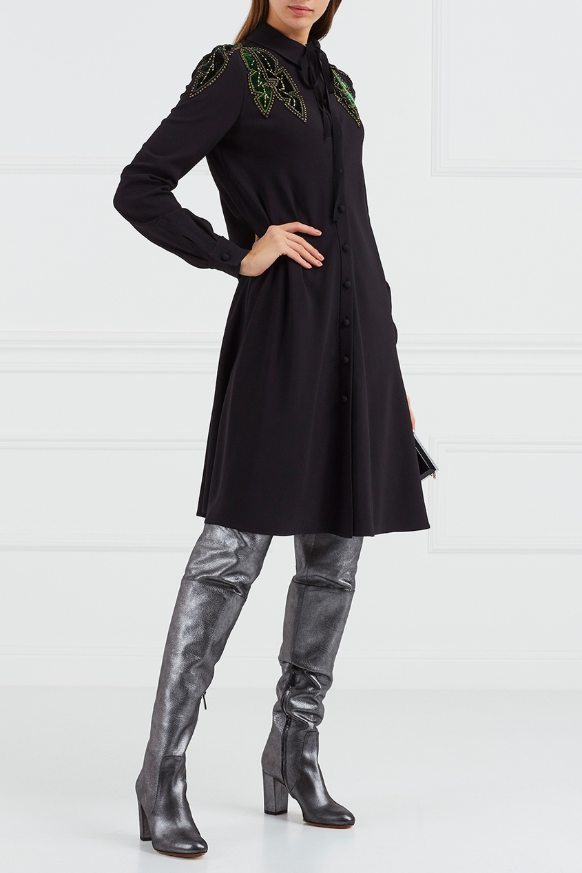 купить Valentino Платье с аппликацией по цене 162400 рублей