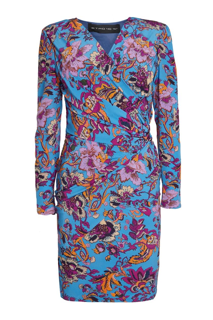 Etro Шелковое платье с принтом лукьяненко с в мелкий дозор