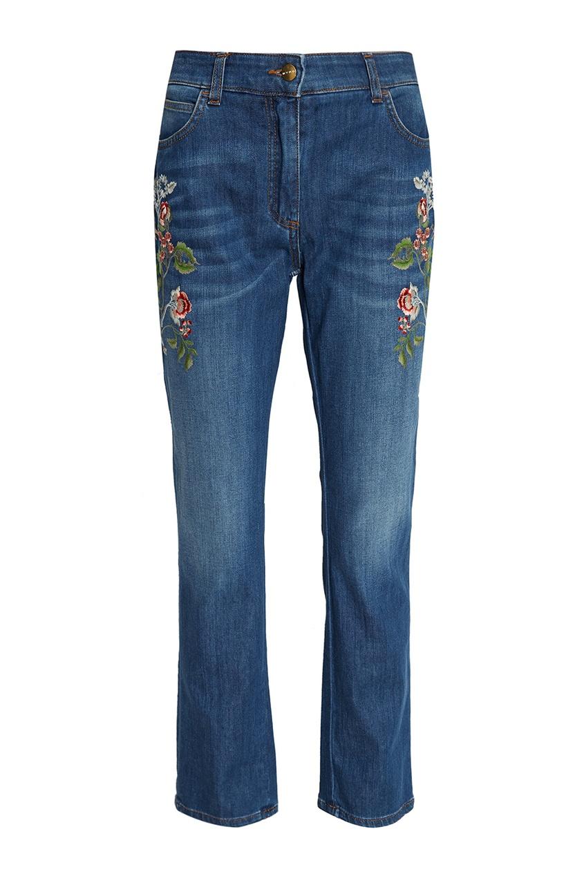 Etro Джинсы с вышивкой etro футболка с контрастной вышивкой