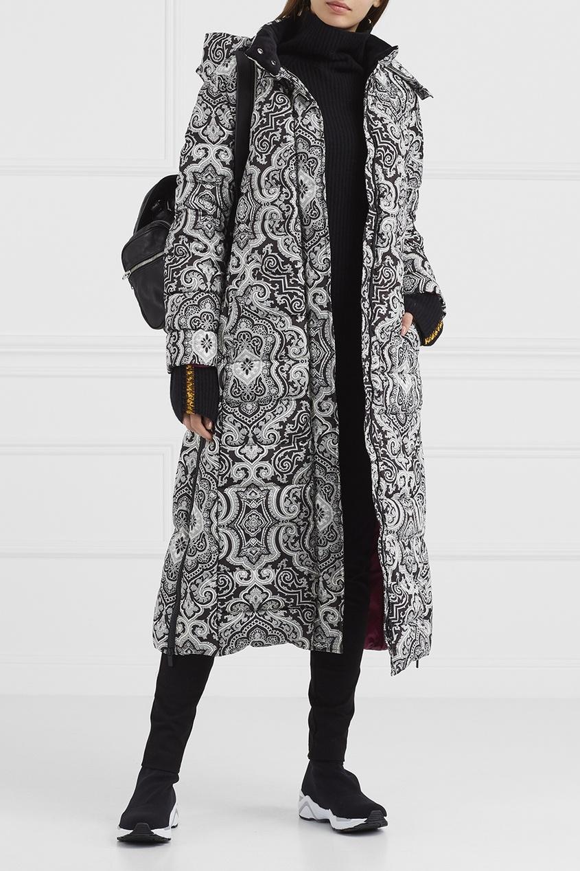 Etro Стеганое пальто с принтом