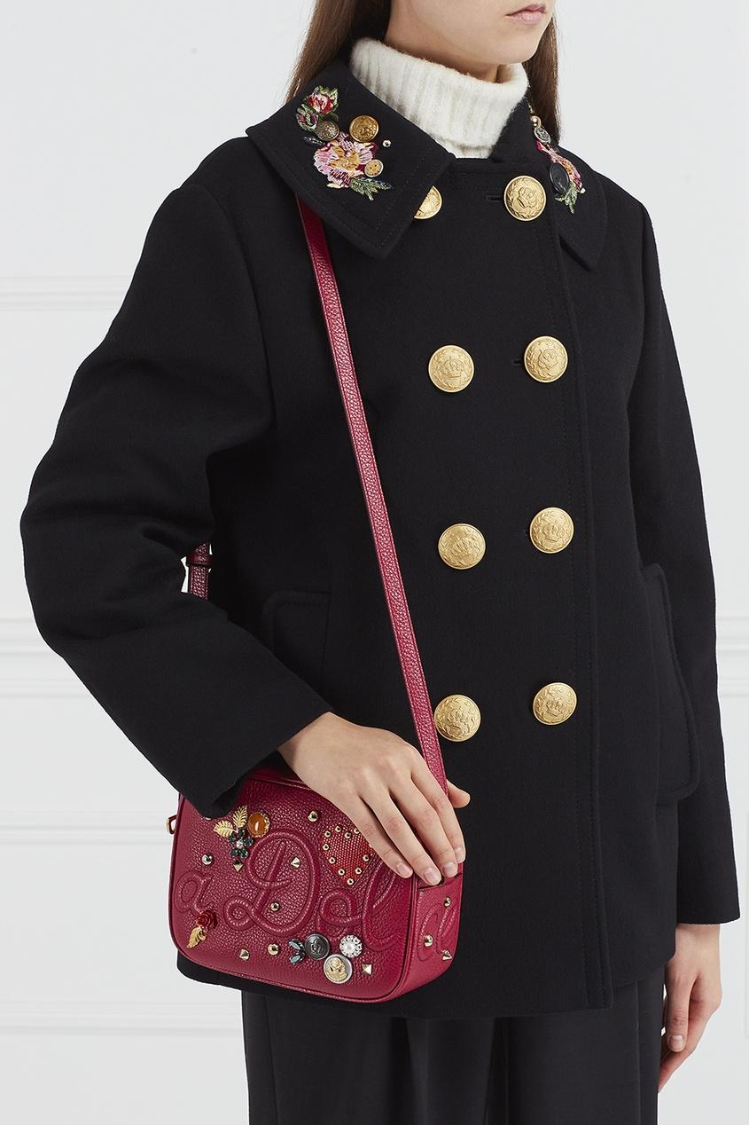 цена Dolce&Gabbana Сумка с заклепками и аппликацией онлайн в 2017 году