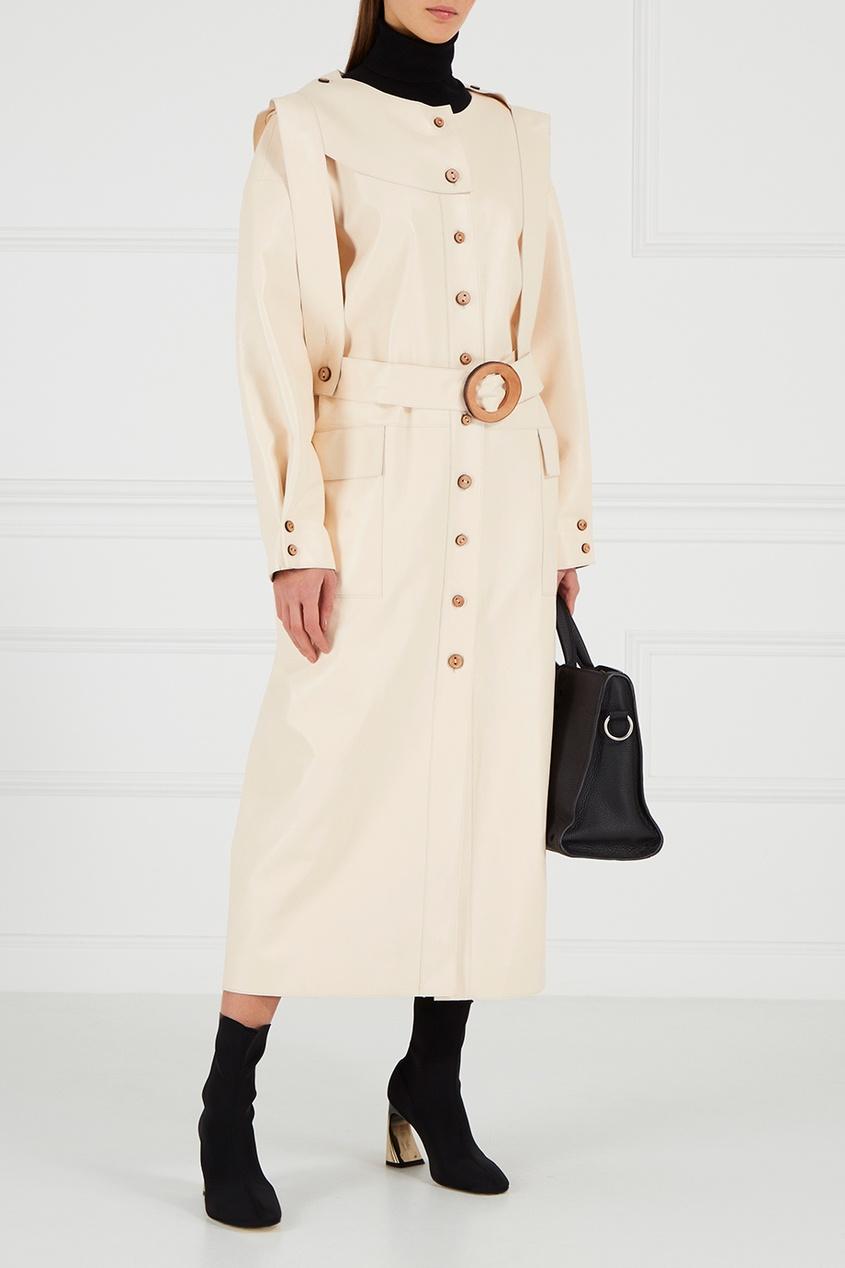 Ruban Кожаное платье-миди