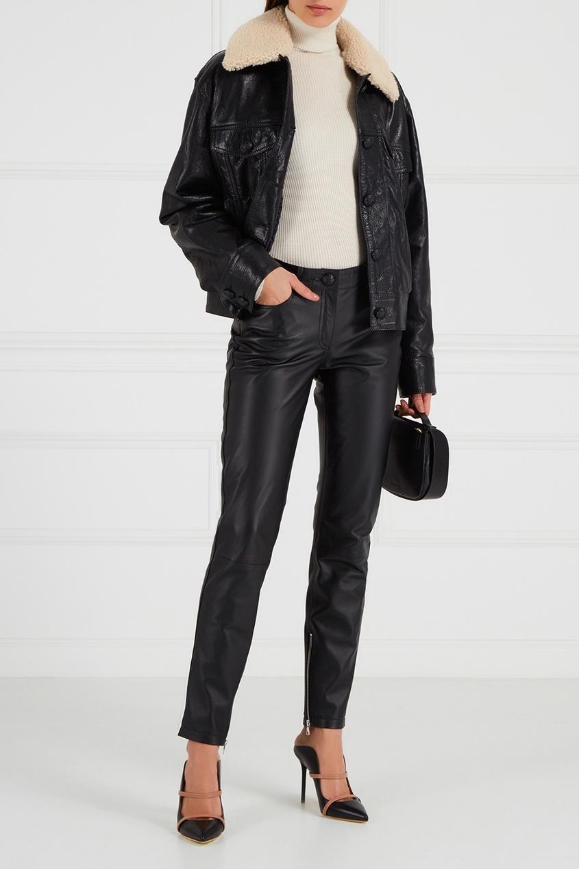 Maison Bohemique Кожаные брюки с молниями