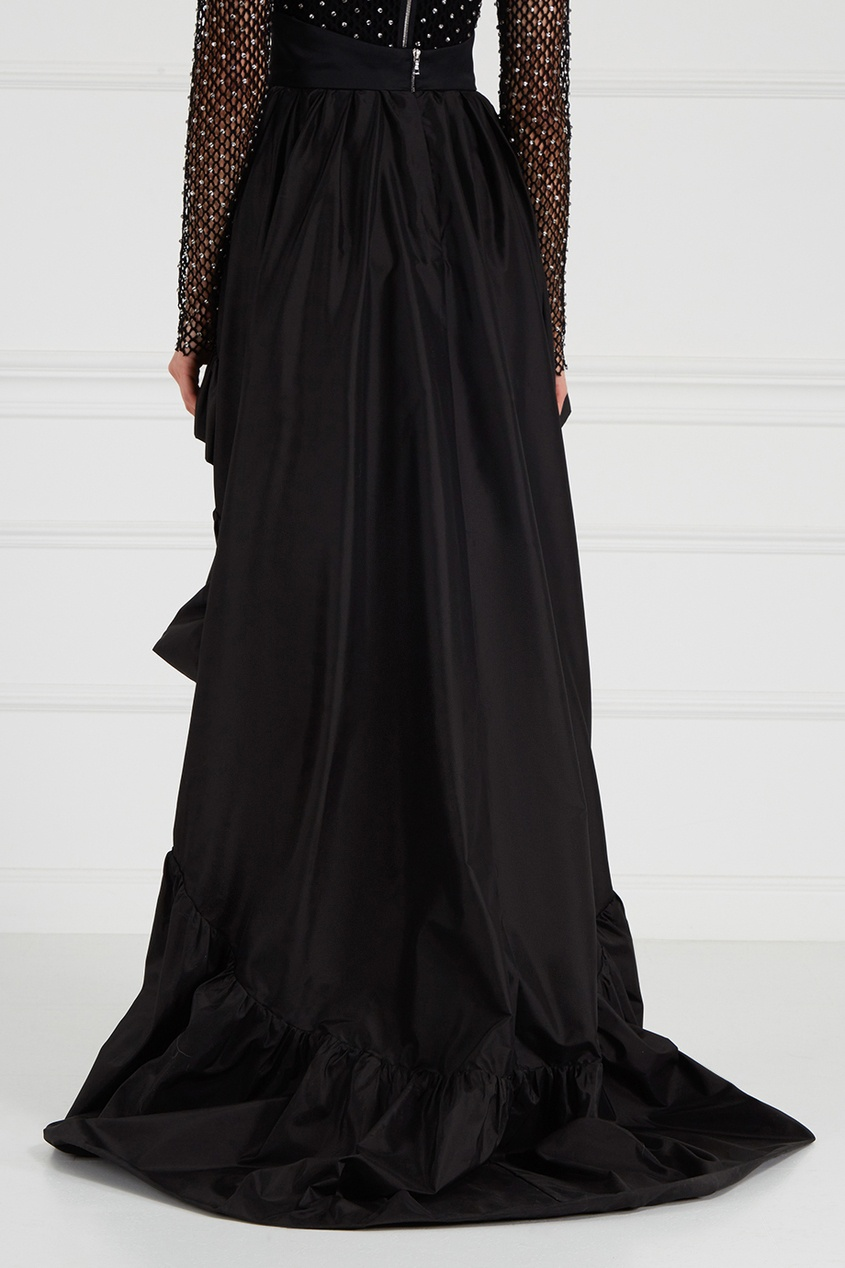 Асимметричная юбка из тафты