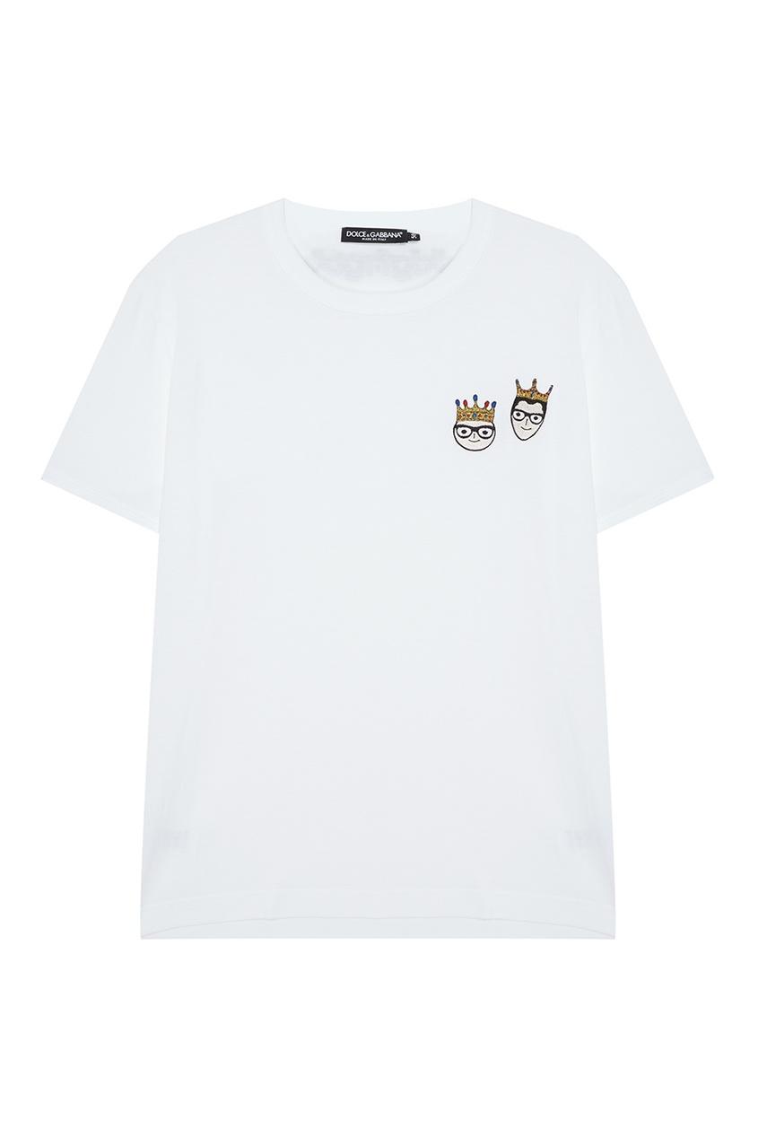 Dolce&Gabbana Хлопковая футболка с патчами