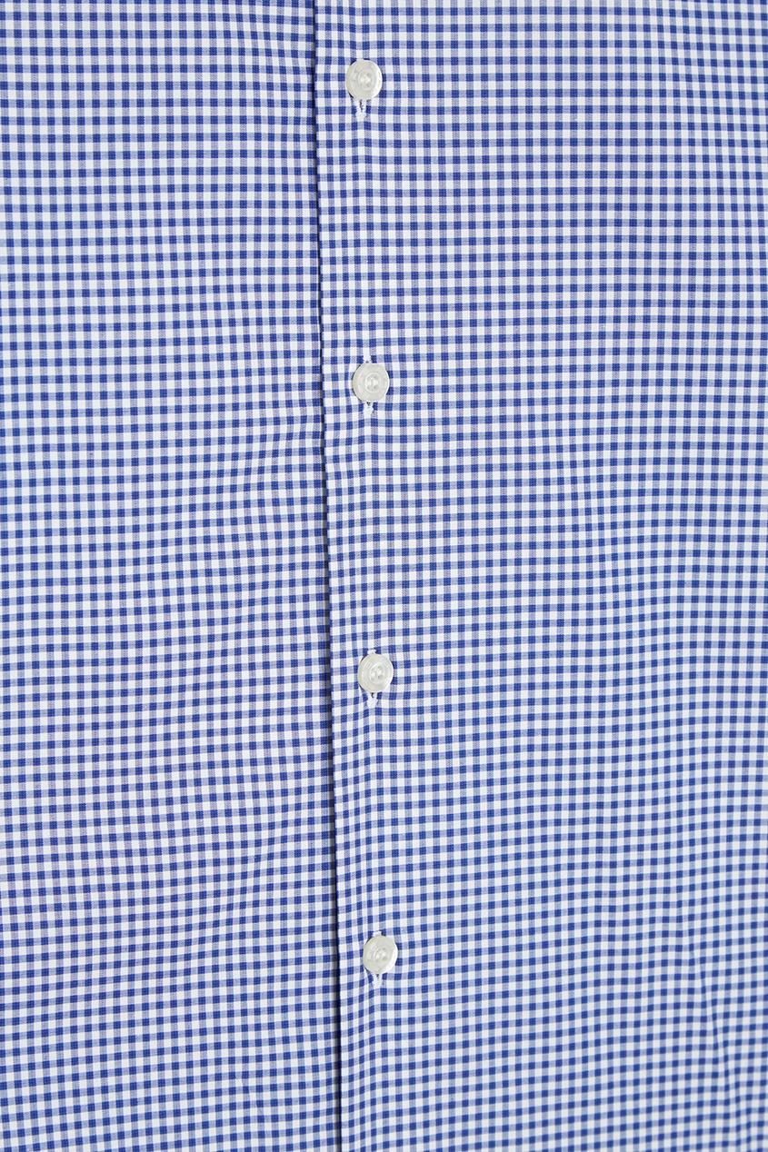Etro Голубая рубашка в клетку рубашка в клетку из денима gamix3
