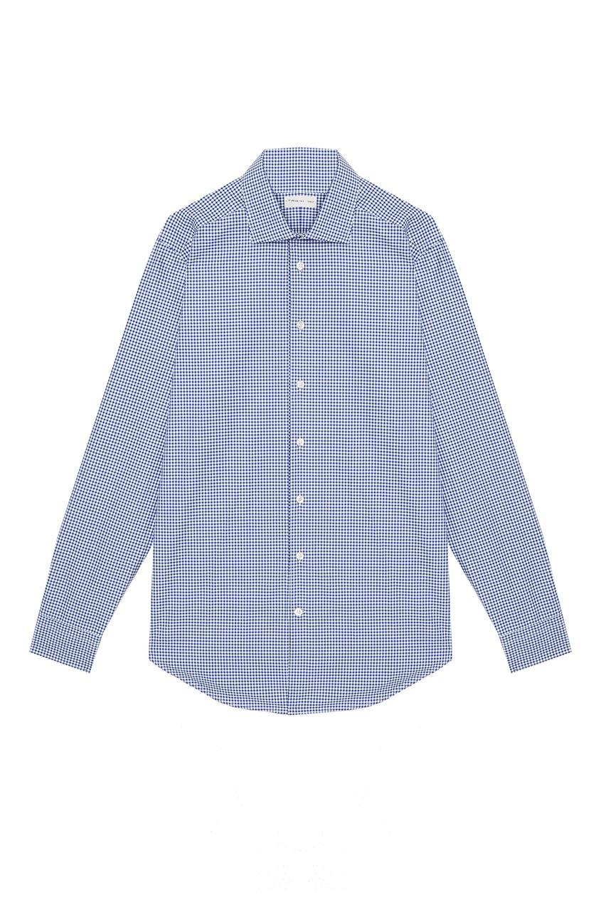 Etro Голубая рубашка в клетку рубашка etro цвет темно синий