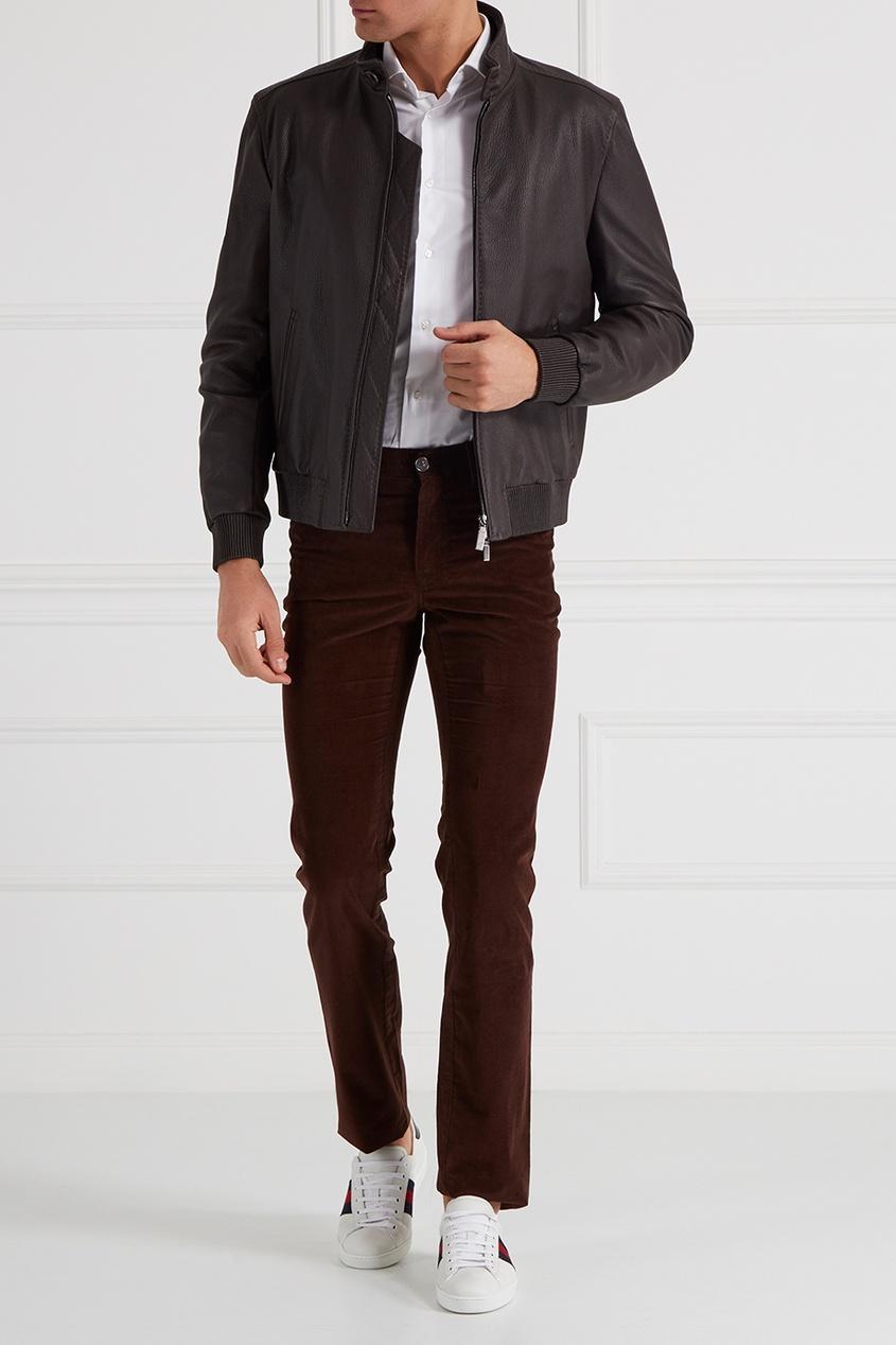 Коричневые брюки из вельвета