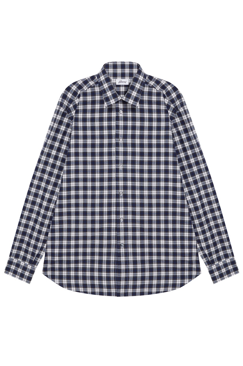 рубашка brioni цвет белый BRIONI Рубашка в контрастную клетку