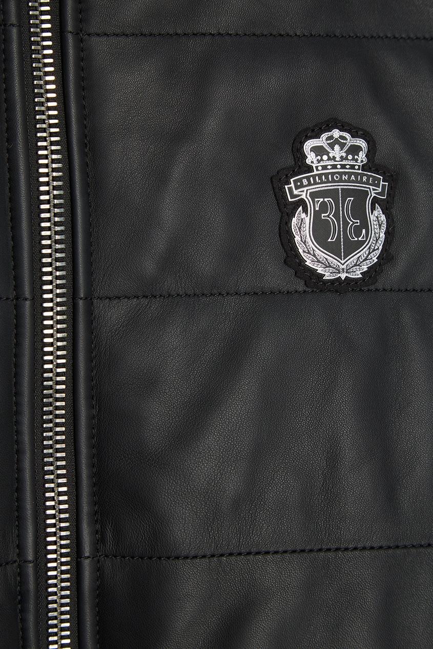 Купить со скидкой Утепленный кожаный жилет